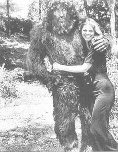 The bionic woman and bionic bigfoot before their onscreen relationship turns nasty. It's complicated.