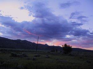 Sunrise. From Lake Hemet Store on HWY 74. 30th June 2009