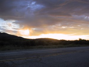 Yet More Sunrise. Near Pacific Crest Trail on HWY 74. 30th June 2009